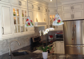 Poppy Motif Glass Pendant Lights
