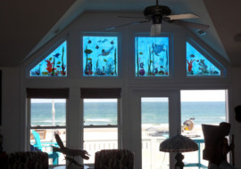 Nautical Glass Transom Windows