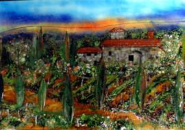 Tuscan Mural in Glass