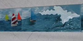 Fused Glass Beach Tiles