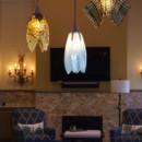 Trio of Fused Glass Pendant Lights