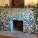 Mosaic Fireplace Surround – Dogwood Motif