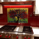 "Glass ""Olive Tree"" Mural"
