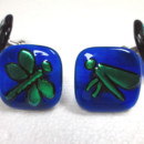 "Glass Cabinet Knob ""Dragonfly"""