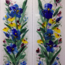 Fused Glass Cabinet Panels – Blue Irises