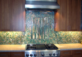 Basketweave Kitchen Backsplash