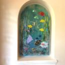 """Glass """"Underwater Sealife"""" Mural"""