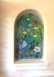 "Glass ""Underwater Sealife"" Mural"