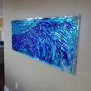 "Fused Glass ""Wave"" Mural"
