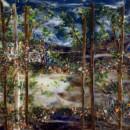 Backlit Lake Scene Glass Backsplash