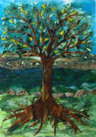 Glass Mural (Tree Motif)