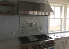 Mosaic Beach Backsplash