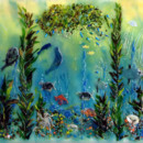 Fused Glass Mural (Pacific Coast)