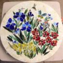 Mosaic Table Top (Floral Motif)
