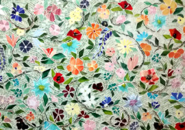 Mosaic Floral Backsplash