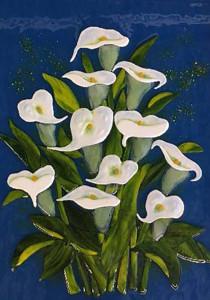 Glass Calla Lily Mural