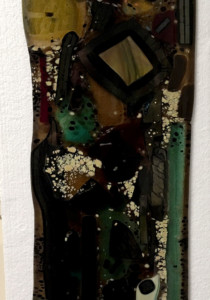 Fused Glass Abstract Wall Art Panel