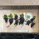 Glass Grapevine Kitchen Backsplash