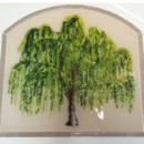 Olive Tree Mural in Fused Glass