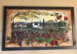 Italian Countryside Glass Mural
