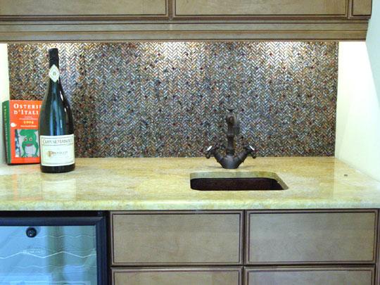 Herringbone Designer Glass Mosaics