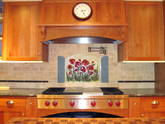stained glass backsplash