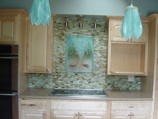 beach theme kitchen backsplash designer glass mosaics designer glass