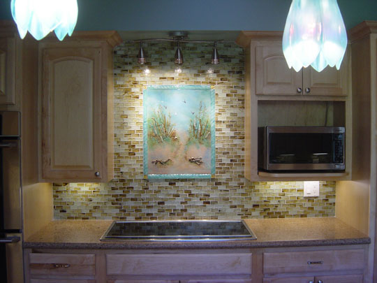 Backsplash Designer beach theme kitchen backsplash | designer glass mosaics|designer