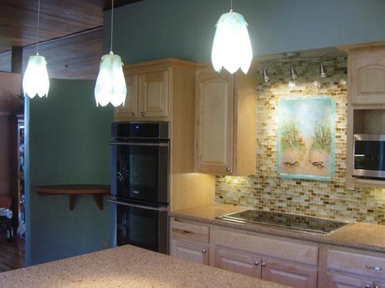 Beach Theme Kitchen Backsplash | Designer Glass Mosaics
