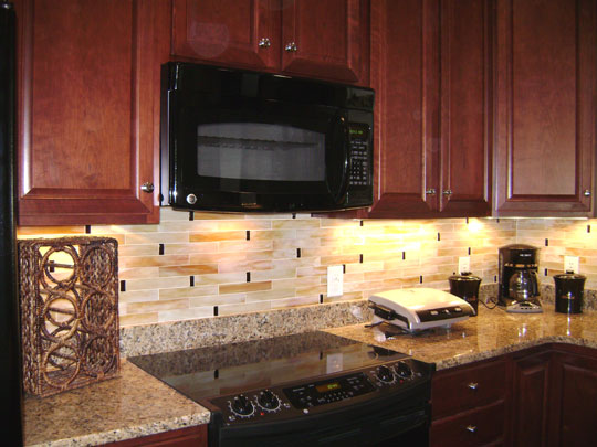 Backsplash Designer stained glass mosaic tile kitchen backsplash | designer glass