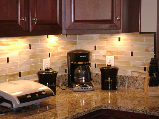 Beveled backsplash tile