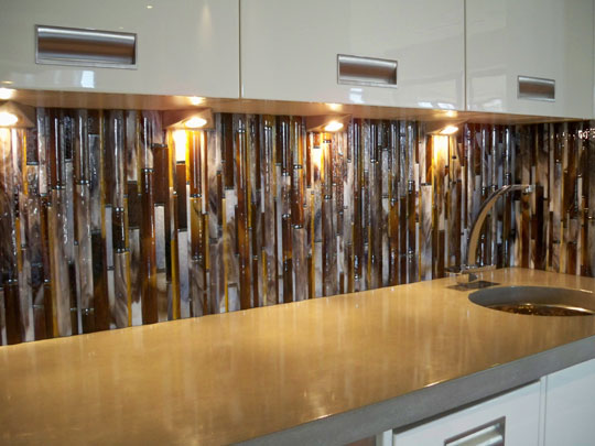 Bamboo Backsplash Designer Glass Mosaics