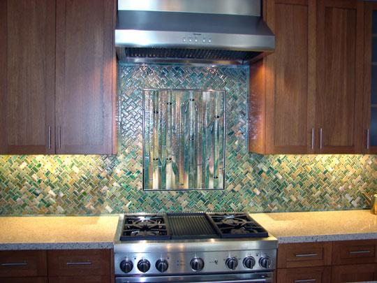 Fused Glass Kitchen Designer Glass Mosaics