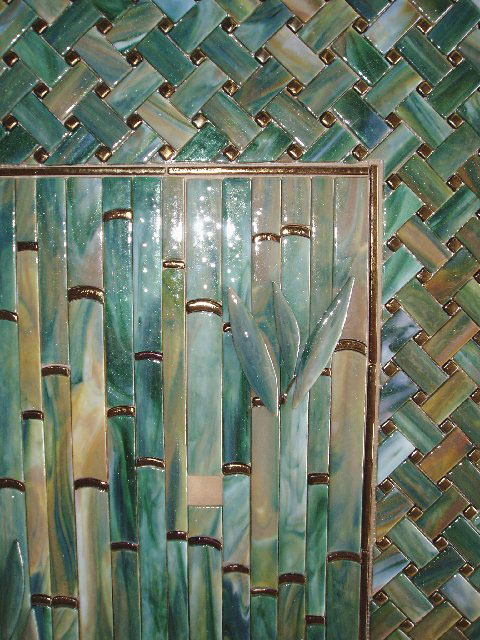 Bamboo backsplash designer glass mosaics designer Bamboo backsplash