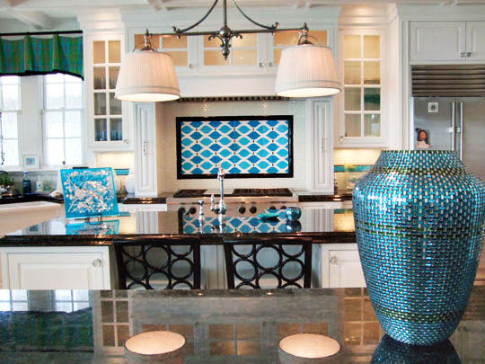 Beach Home Kitchen Backsplash Designer Glass Mosaics