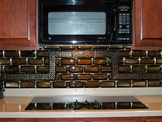 designer glass mosaics stacked tile kitchen backsplash
