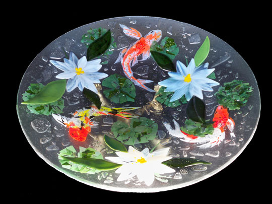 Koi Bowl Designer Glass Mosaics