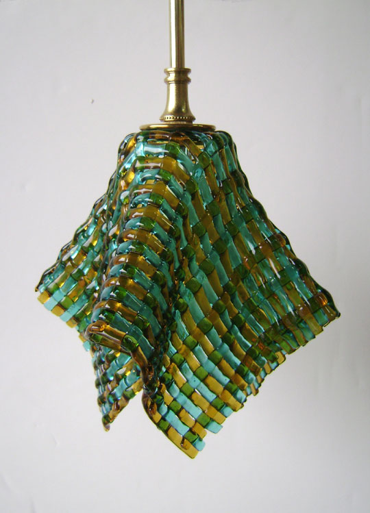 Woven Glass Pendant Light  Designer Glass Mosaics  Designer Glass ...