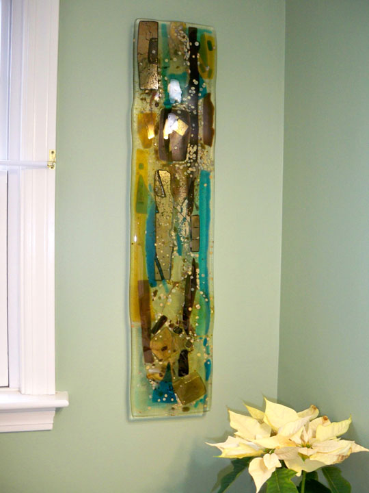 Fused Glass Abstract Wall Panel Designer Glass Mosaics