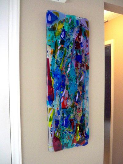 Fused Glass Quot Rainbow Quot Panel Designer Glass Mosaics