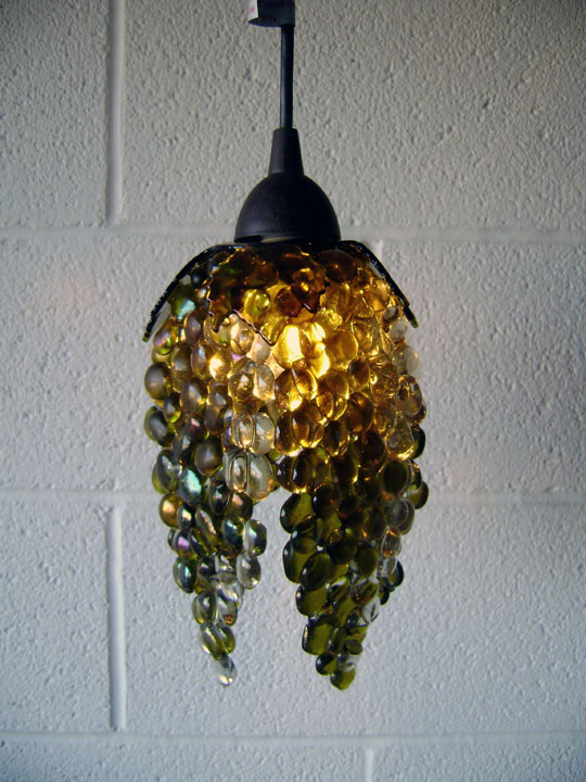Fused Gl Grape Motif Pendant Lights