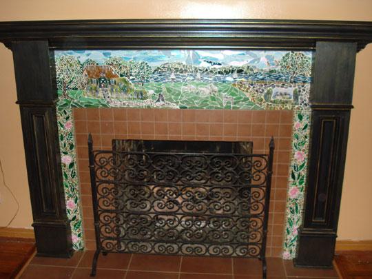 Quot English Cottage Quot Mosaic Fireplace Surround Designer
