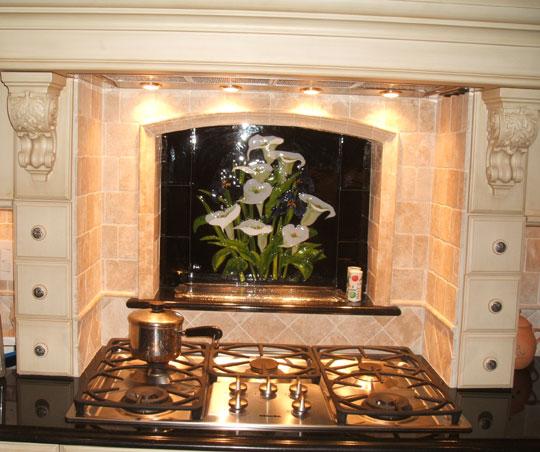 Fused Glass Kitchen Backsplash Calla Lilly Amp Iris