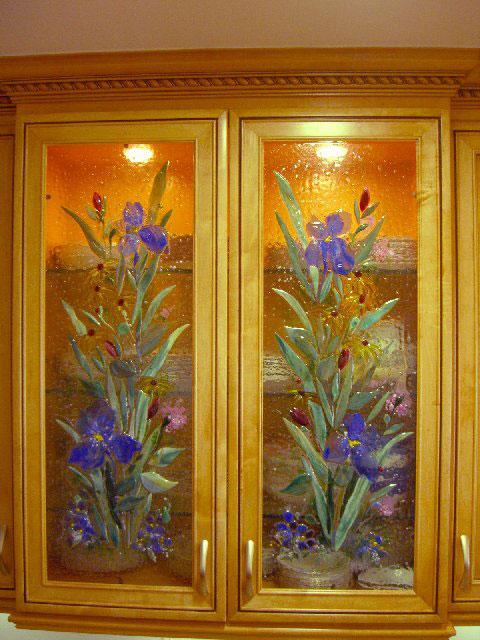 Blue Iris Kitchen Cabinet Panels
