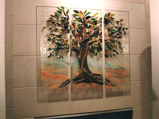 Tree Of Life Mural In Fused Glass Designer Glass Mosaics