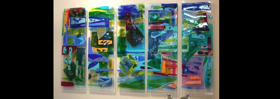 """Charleston Harbor"" Fused Glass Art Panels"