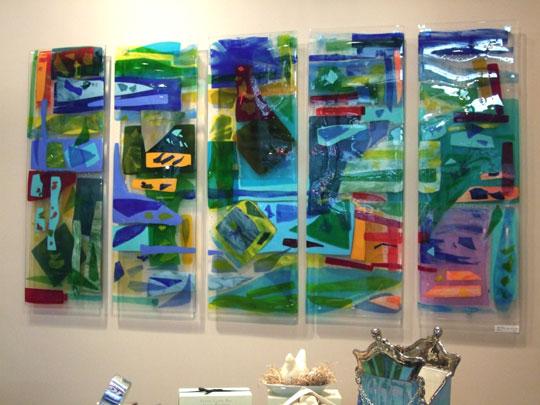 """Charleston Harbor"" Fused Glass Art Panels"