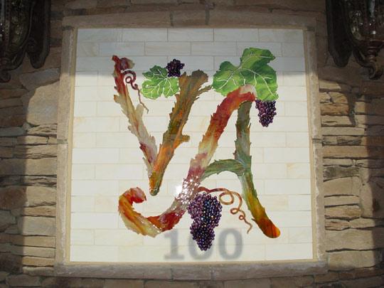 Fused Glass Mural as Restaurant Logo