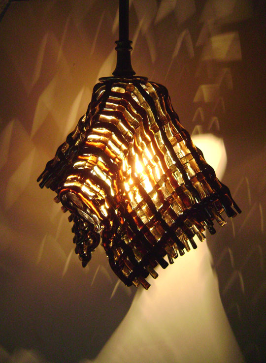 Zoom in Read more & CUSTOM hand-crafted fused glass PENDANT LIGHTS and SCONCES ... azcodes.com