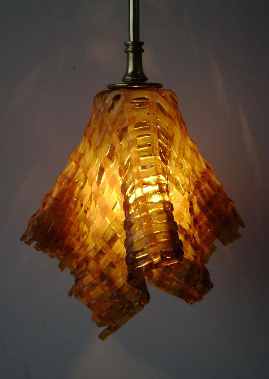 Streaky amber pendant designer glass mosaics aloadofball Images